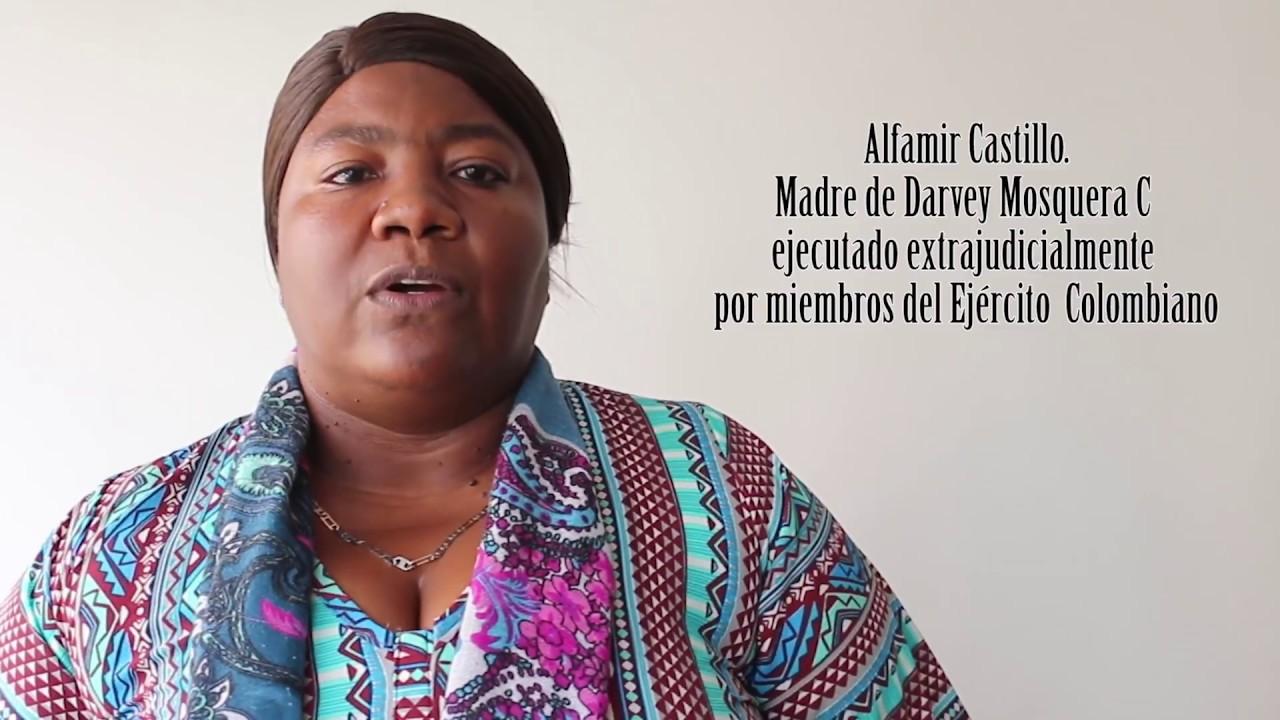 Atentan contra Alfamir Castillo Bermudez, madre de ejecutado por el ejercito, amenazada desde la audiencia contra el general Montoya